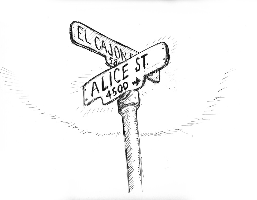 Alice Street Sign  Work In Progress Update See Www