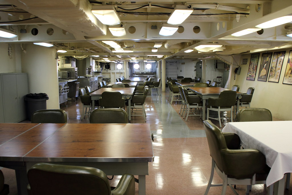 USS Wisconsin Wardroom  Wardroom of the USS Wisconsin BB