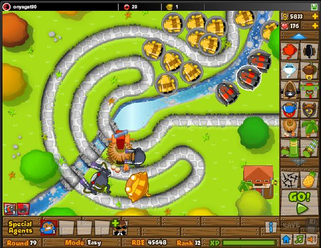 Black And Gold Games: Unblocked Bloons Tower Defense 5 Flash Games