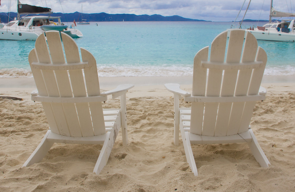 White Beach Chairs In Virgin Islands  Feel free to use