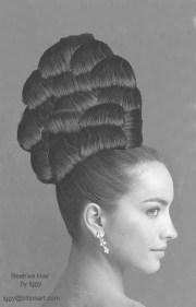 retro hairstyle long hair