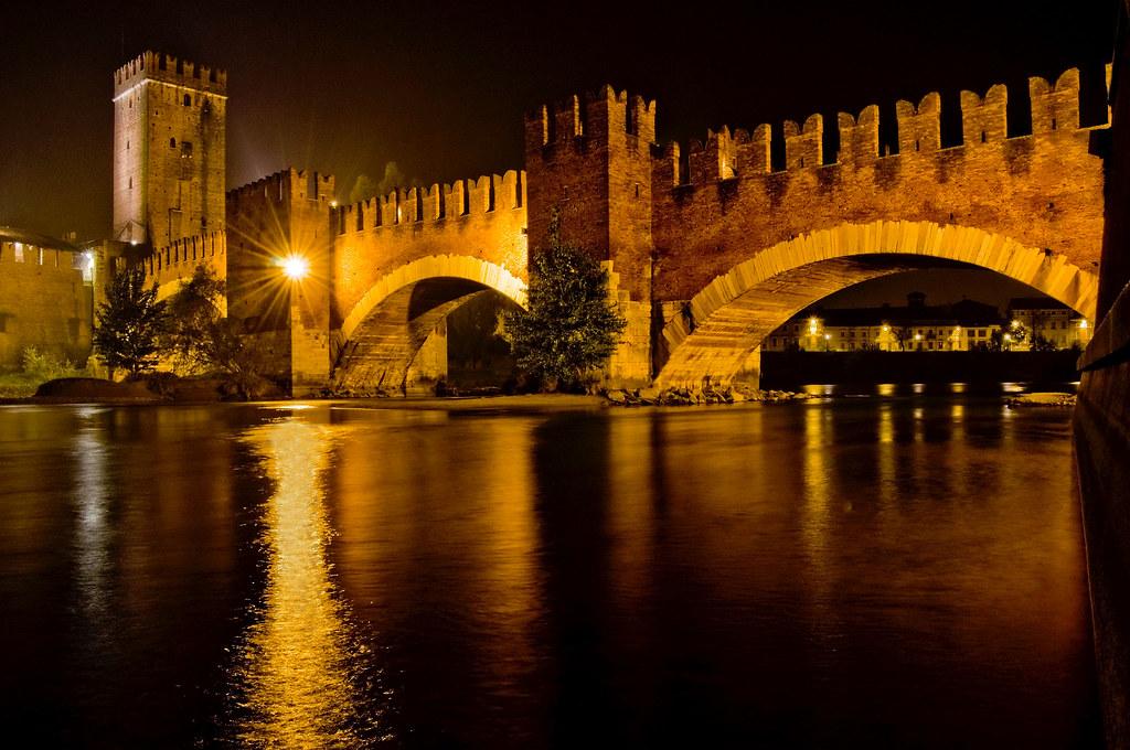 Castelvecchio Bridge  Verona  Italy  It was built most