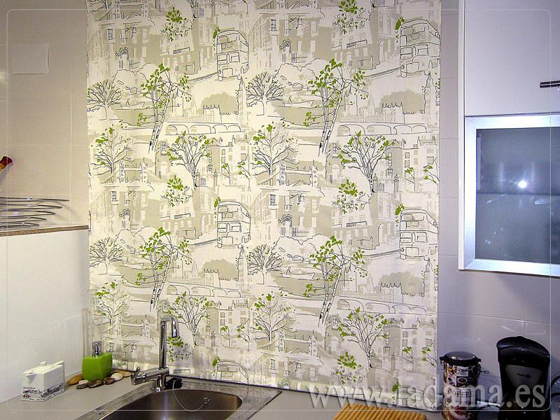 color sofa simmons recliner parts cortinas para cocina, visillos y estores con tejidos ...