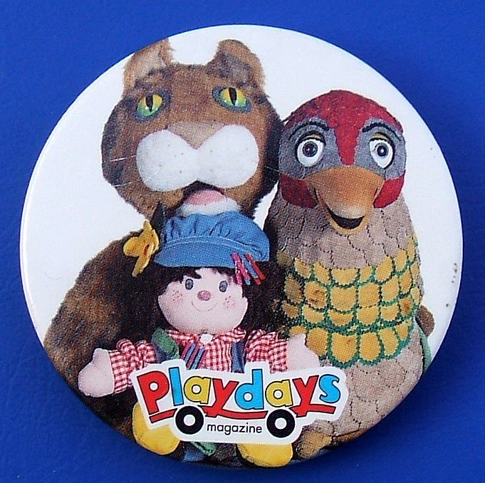 Playdays  promotional badge 1997  Playdays known as