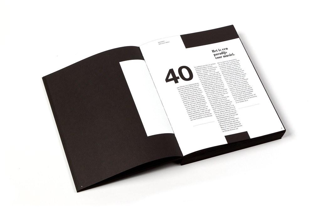 Editorial design  40 years Effenaar book  Portfolio Ni  Flickr
