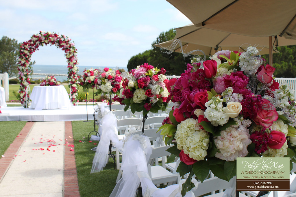 Tall Flower Arrangements Used For Wedding Ceremony Flowers