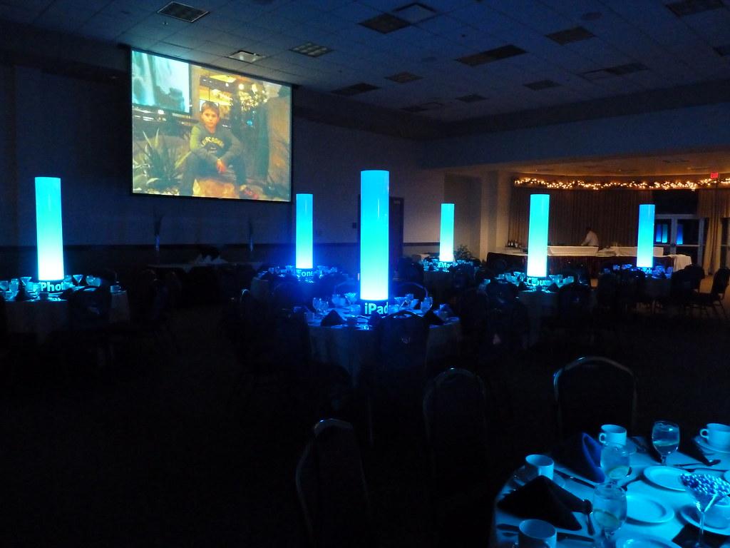 GlowTube centerpieces large lightup tubes for a Bar Mitz