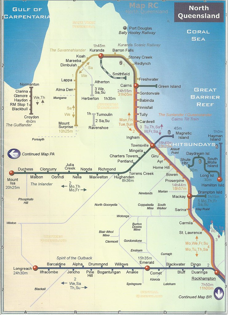 Train travel map of North Queensland in 2004 John Coyle s  Flickr