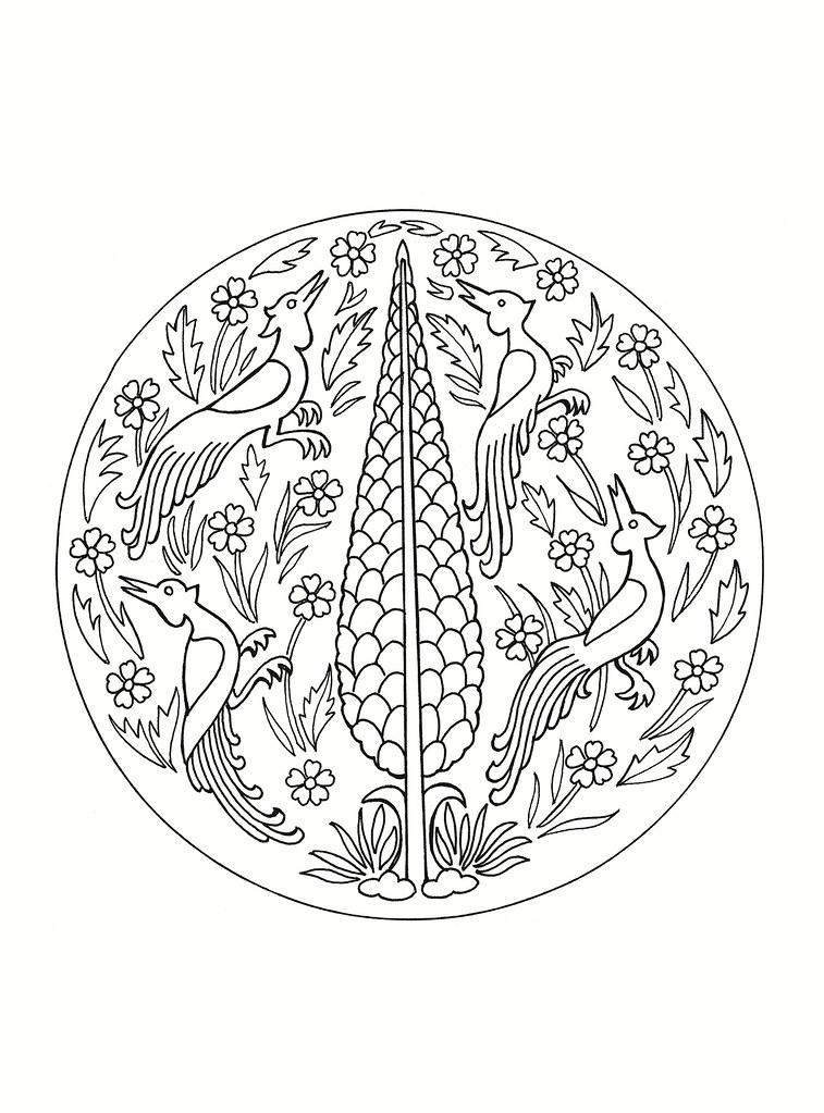 East Asian Designs Bird Roundel See Bibliodyssey