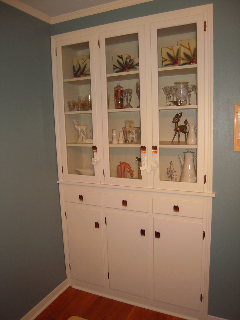Builtin China Cabinet  One of my favorite features in