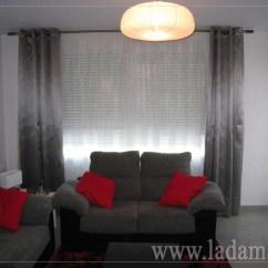 Y Sofa Living Room Colours With Grey Decoración Para Salones Modernos: Cortinas, Paneles Japone ...
