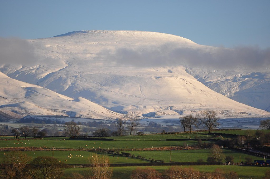 Cross Fell snow  From just above the bank of the River