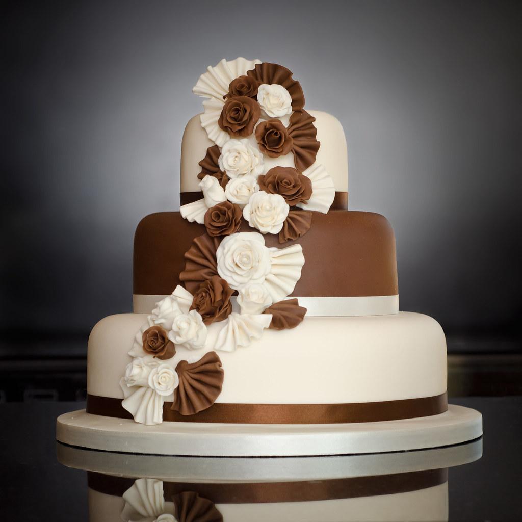 Three Tier Chocolate Wedding Cake Mrs Mac Has Her First