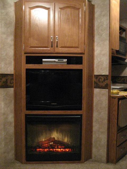Dimplex 26 inch RV installation  Here is a recent custom