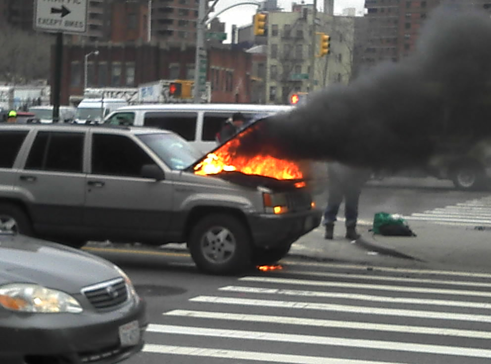 Car Fire New York 2012 Shankbone 2 A Car Engine Caught