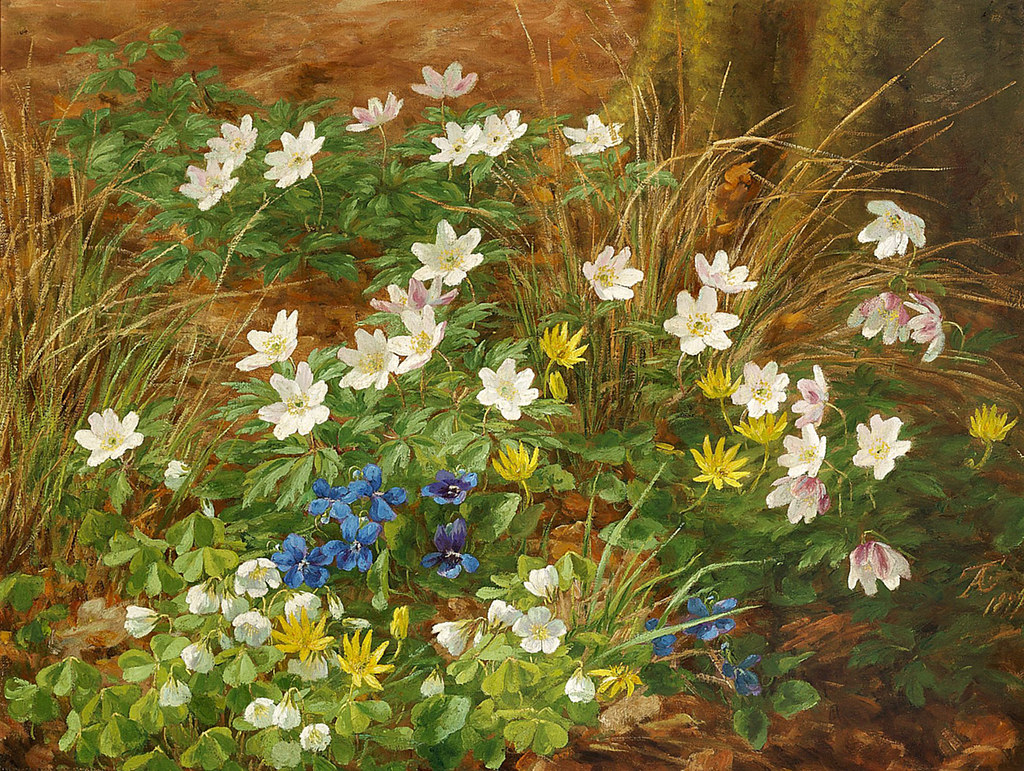 Anthonore Christensen Danish 18491926 Flowers in a f