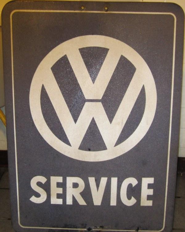 Vintage Vw Service Sign Porcelain Enamel