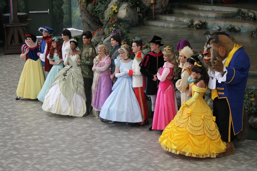 The Disney Princess And Prince Photo Shoot On February