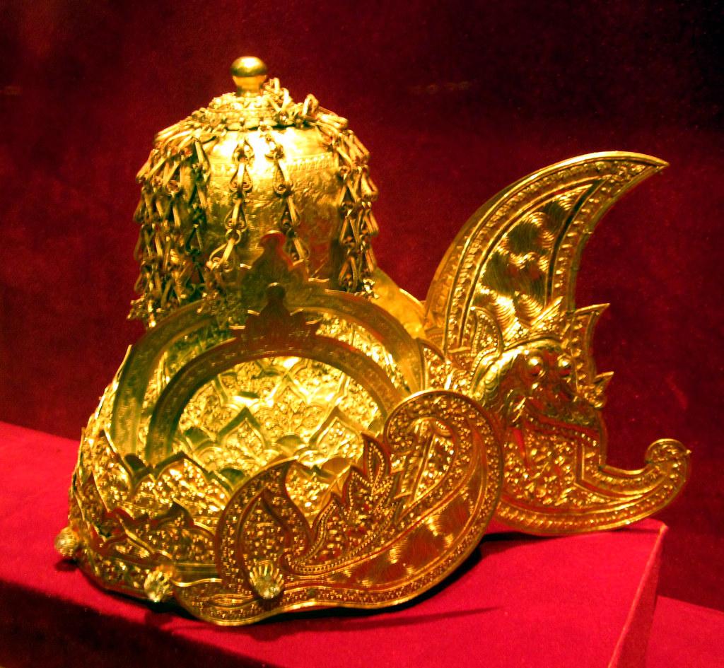The Golden Crown of Sultan Kartanegara of Kutai Indonesia
