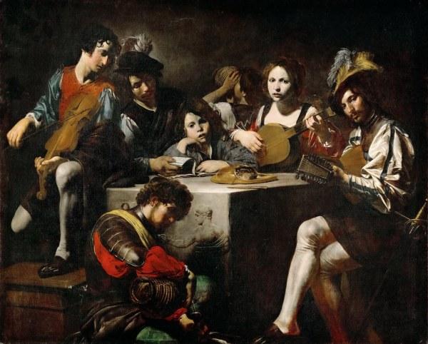 Valentin De Boulogne - Concert Bas-relief 1622