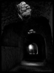 castle hallway dark flickr