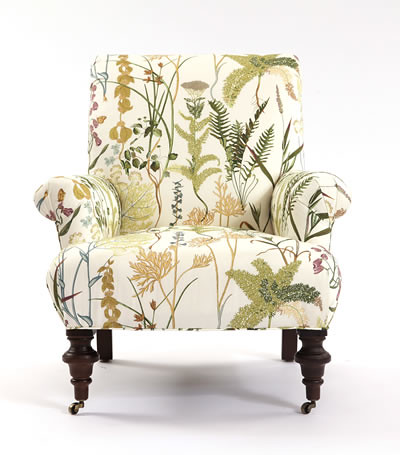 Upholstered Chair in FernSpring from Calico Corners l Cal