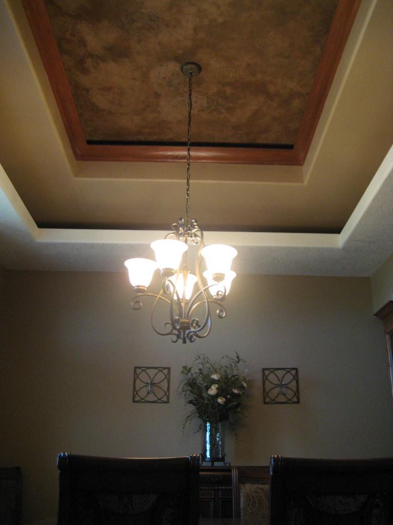 Sioux Falls Wallpaper Tray Ceiling Dining Room Italian Venetian Plaster Be