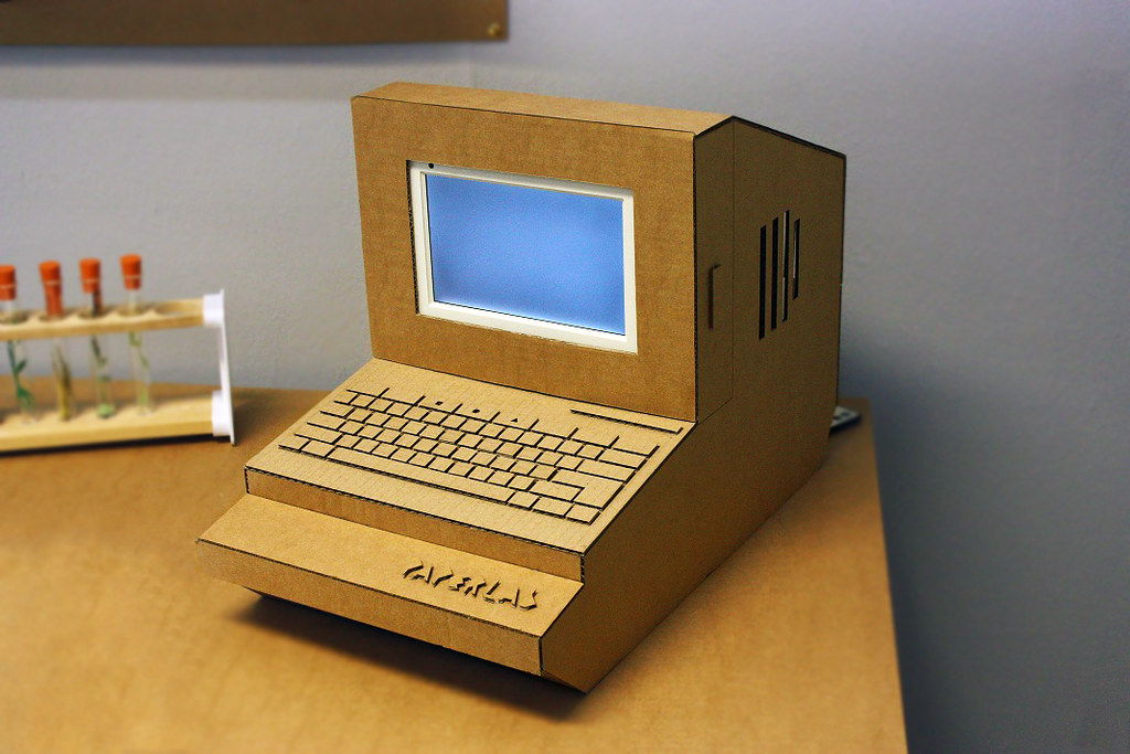 Paper Lab Laser Cut Cardboard Computer This Is A Compute Flickr