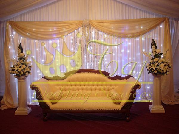 wedding stage backdrop ivory cream gold  Engagement