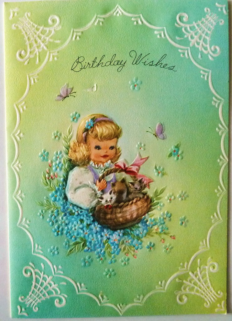 Vintage Birthday Wishes Greeting Card Part Of My Vintage