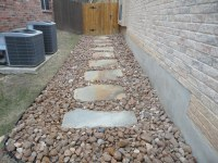 FLAGSTONE WALKWAY SET IN RIVER ROCK 2 | Designs completed ...