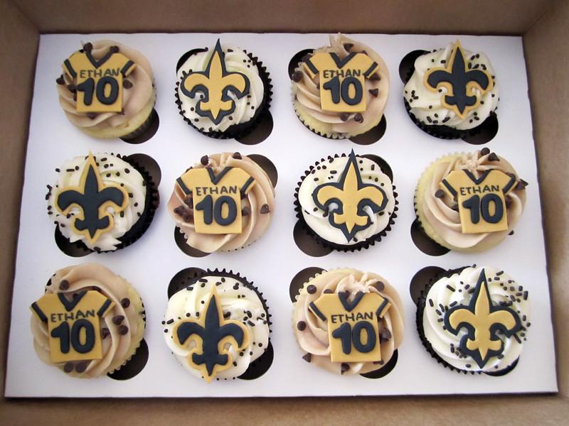 New Orleans Saints Birthday Cupcakes Mindy Bortz Flickr