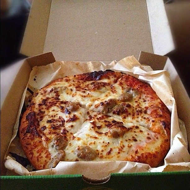 Subways personal sausage pizza Available only at walm