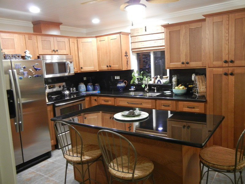 After New open floor plan kitchen  Chinese Ash cabinets