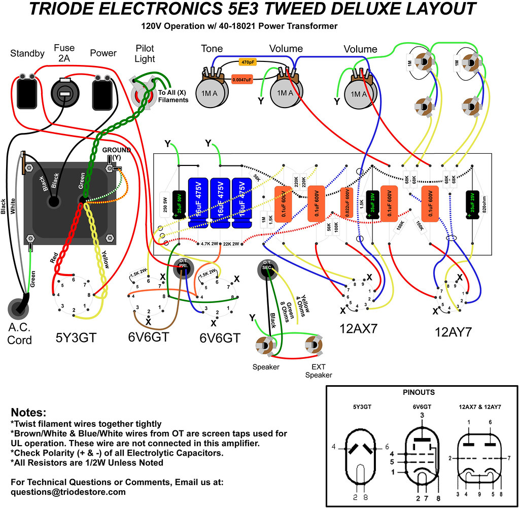 Triode 5e3 Deluxe Layout 40