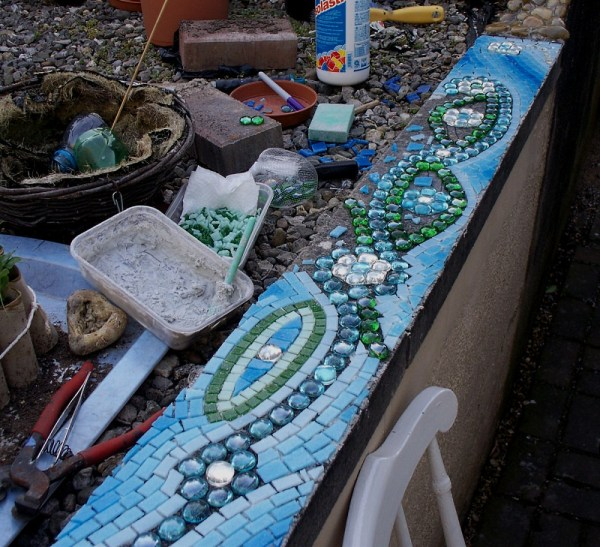 Wip - Garden Wall Coping Stone Mosaic Of