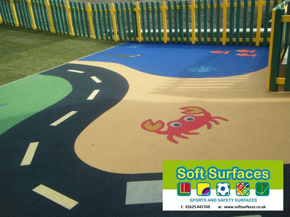 Soft spongy bouncy porous rubber playground surfaces floor