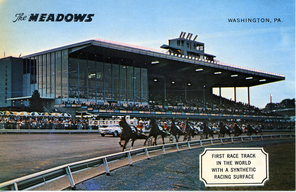 Meadowlands PA The Meadows Racetrack 1963  The Meadows