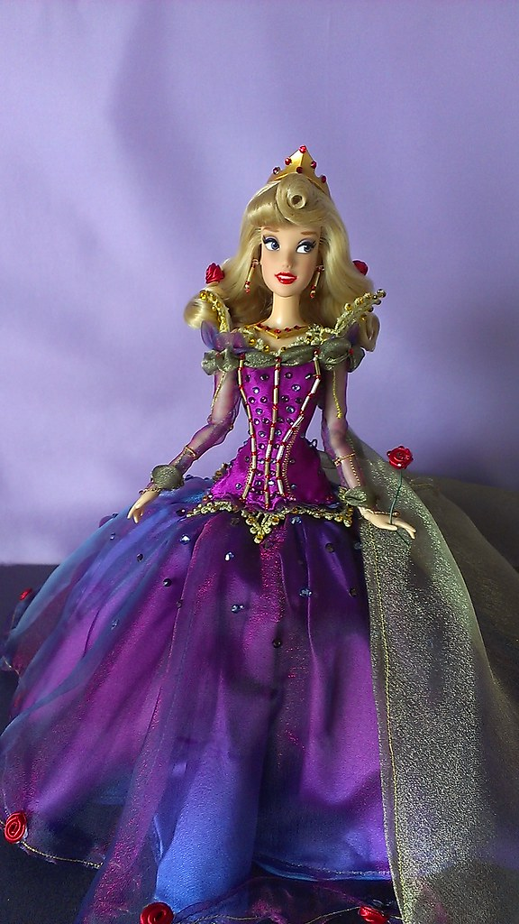 Disney Store Custom Aurora Doll Here she is! Everything