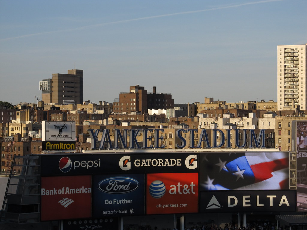 Welcome To Yankee Stadium With South Bronx In Background