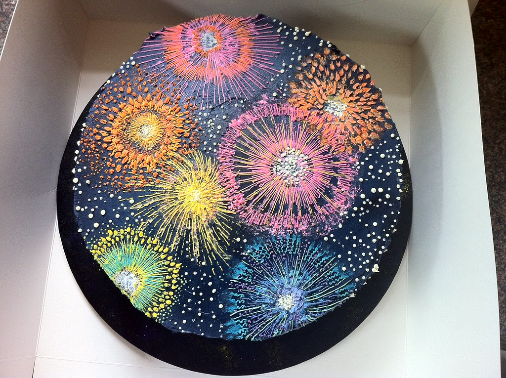 Firework Birthday Cake By Katja Best Regards Katja