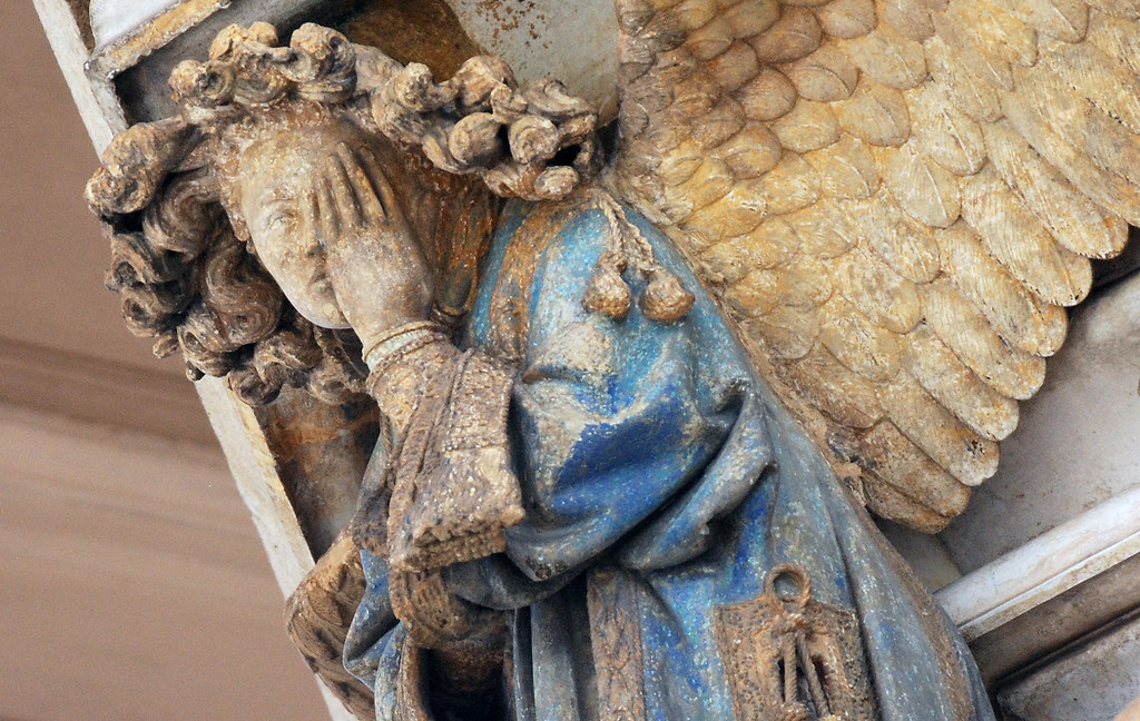 Detail of Weeping Angel Claus Sluter Well of Moses 1395  Flickr