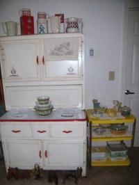 Sellers Hoosier cabinet (1947) with vintage display | Flickr