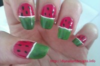 DIY Nail Art Designs: Quick and Simple Watermelon Nails Tu