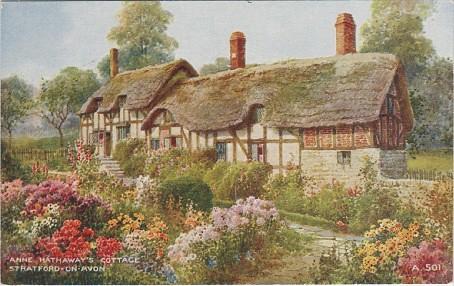 Stratford On Avon Anne Hathaways Cottage Vintage Postcar