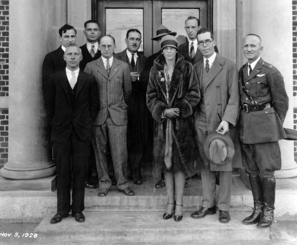 Amelia Earhart Visits NACA And Gets Her Coat Caught in a