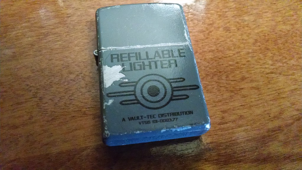 Vault Tec Standard Issue Refillable Lighter  Found this