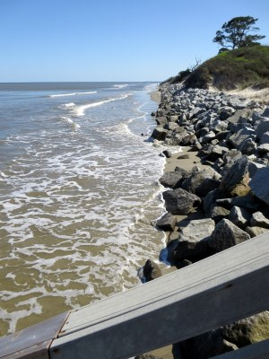 Jekyll Island at high tide