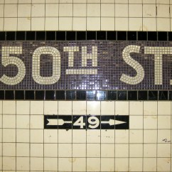 Subway Tiles In Kitchen Banquettes For Sale Nyc - Hell's Kitchen: 50th Street Station | The ...