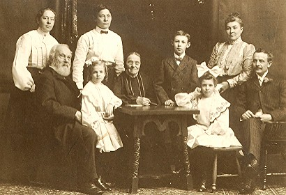 About 1900 Carl Ludwig Rominger 18201907 and his famil